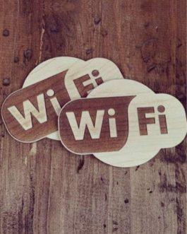 Ahşap Tabela – Wi Fi
